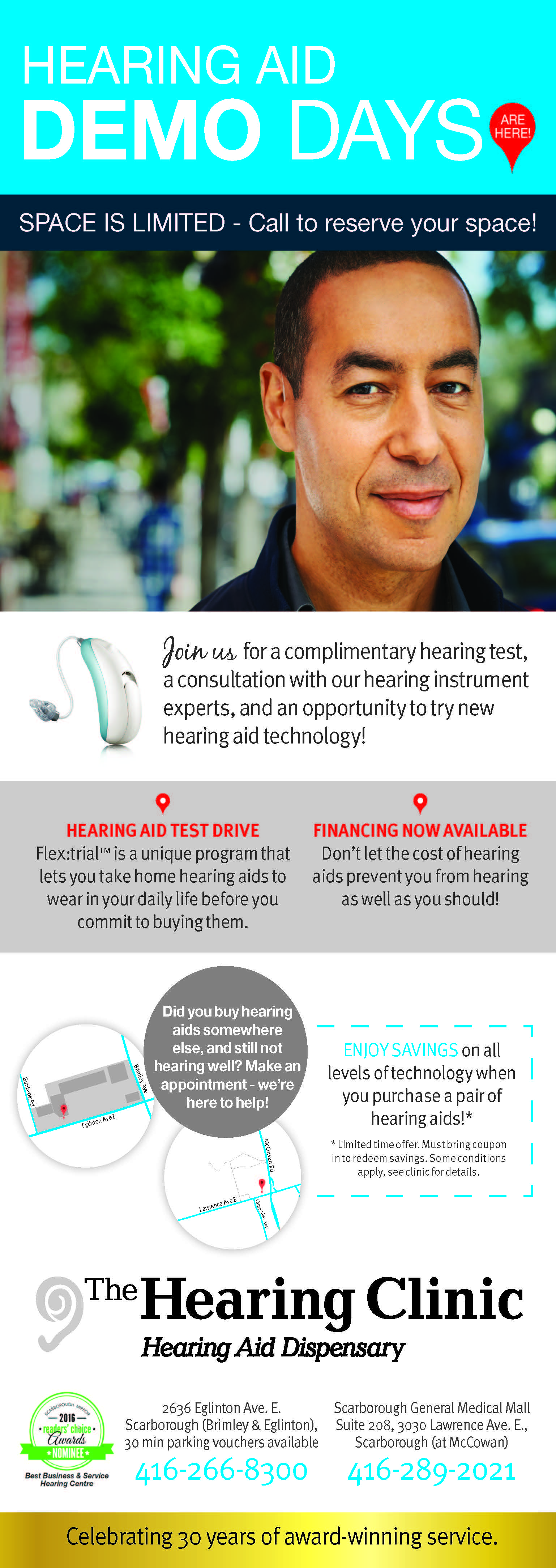 The Hearing Clinic August Ad